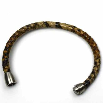 Regulerbart læderarmbånd fra Keramikkat.