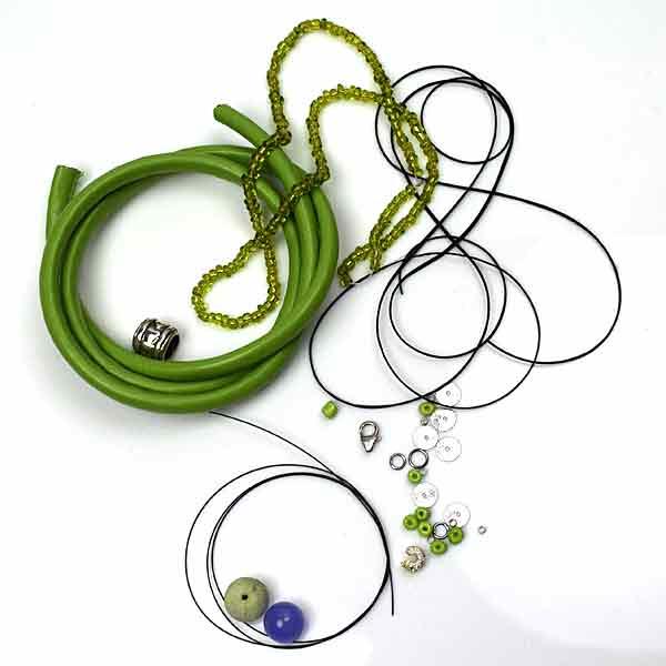 Lav selv smykker - Smykkedele, lædersnor og smykkeposer
